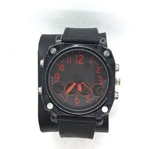 Beautiful Watch With Stopwatch Timer For Men Black